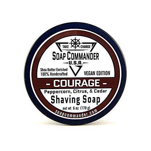 Soap Commander Vegan Shave Soap (Courage - Peppercorn, Citrus, and Cedar)