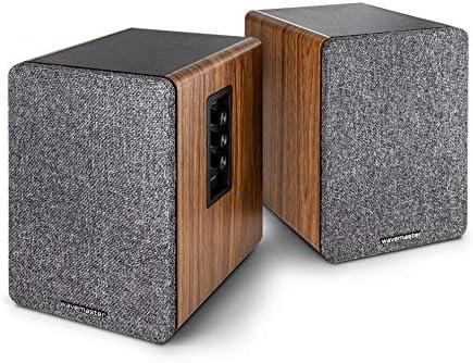 Wavemaster Base Regallautsprecher System 30 Watt Mit Bluetooth Streaming Und Kopfhörerausgang Aktiv Boxen Nutzung Für Tv Tablet Smartphone 66500 Audio Hifi