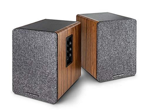 wavemaster Base – rek-luidsprekersysteem (30 Watt) met Bluetooth-streaming en hoofdtelefoonuitgang, actieve boxen…