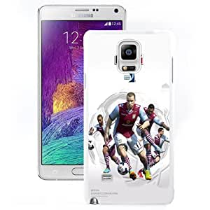 DIY and Fashionable Cell Phone Case Design with FIFA 14 Aston Villa Galaxy Note 4 Wallpaper in White