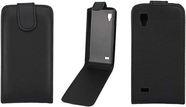 BUVYphonecase Funda for teléfono móvil Pure Color Vertical Flip Soft Funda de Cuero for LG P760 Optimus L9 (Negro): Amazon.es: Electrónica