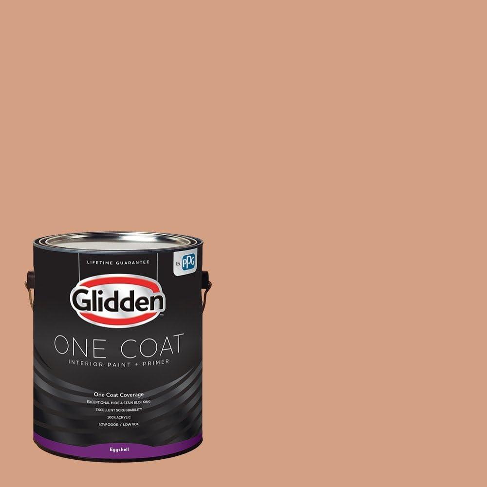 Amazon Com Glidden Interior Paint Primer Peach Orange Maple One Coat Eggshell 1 Gallon Home Improvement