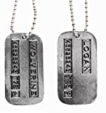 Marvel Comics WOLVERINE/LOGAN 2-Sided Silvertone DOG TAG on 20 Inch Chain