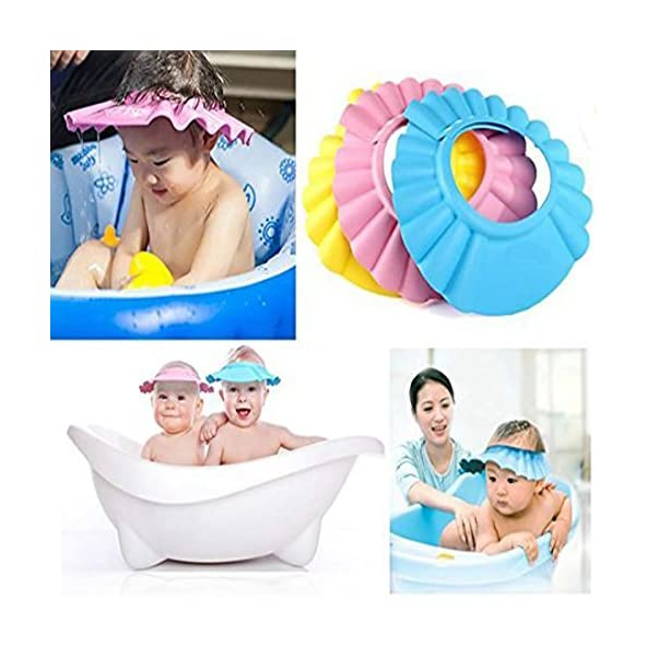 BAWALY Baby Infant Kids Children Toddler Shampoo Bath Shower Cap Wash Hair Ear Shield, Color May Vary