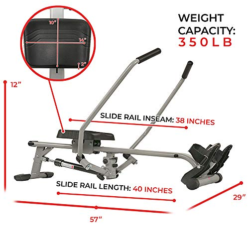 Sunny Health & Fitness SF-RW5639 Rowing Machine