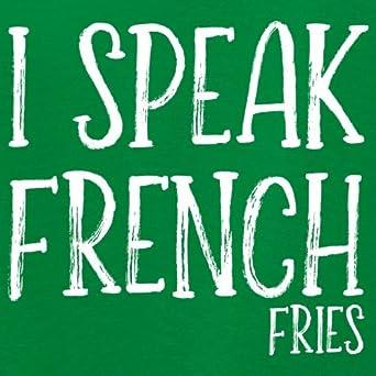 1-13 Years 9 Colours Kids Hoodie Dressdown I Speak French Fries