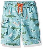 Hatley Boys' Little Board Shorts, Swamp Gators, 3 Years