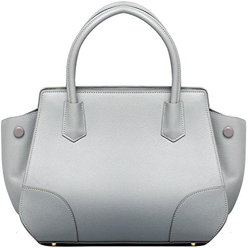Wholesale Designer Inspired Handbags - Women Faux Leather Handbags Fashion Designer Tote Handbag Large Top Handle Satchel Handbag - Grey