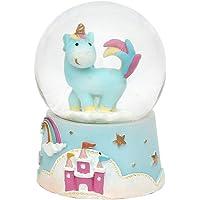 Bola de nieve de decoración con unicornio,
