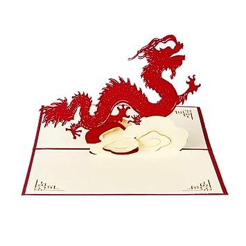 Christmas Bday Cards.Orgrimmar 3d Pop Up Dragon Greeting Card Retro Mid Autumn Festival Cards Handmade Birthday Valentine Christmas Greeting Cards Wedding Invitation Cards