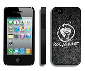 rise against 02 Black Durable Hard Shell iPhone 4S Phone Case