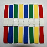 8pcs First Aid Tourniquet, One Handed Tourniquet Adjustable Reusable Medical Blood Stop Belt with Buckle for Outdoor Emergency First Aid Intravenous Injection Stop Bleeding Strap,Color by Random