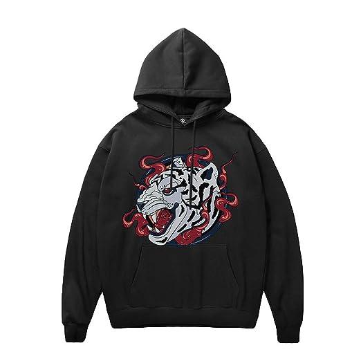 f48af8676 Amazon.com : Hooded Sweatshirt for Men, Jiayit Mens Dragon Printing  Pullover Long Sleeve Hoody Sweatshirt Tops Blouse : Clothing