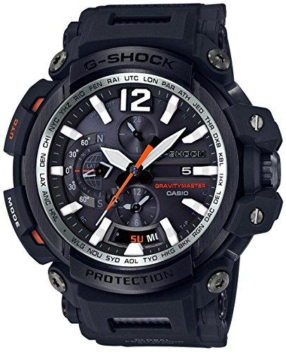 Casio Men's 'G SHOCK TOUGH SOLAR' Quartz Resin Aviator Watch, Color:Black (Model: GPW-2000-1ACR) - Casio G Shock Aviator