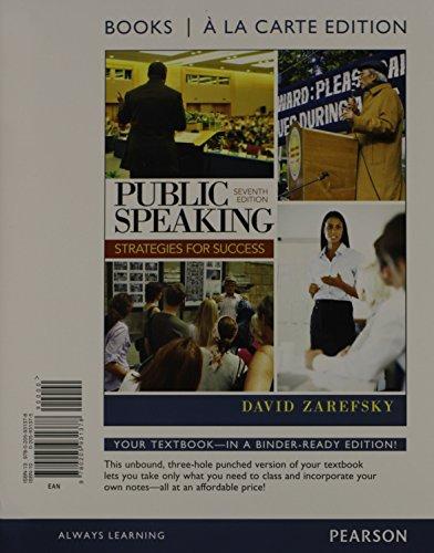 Public Speaking, Books a la Carte Edition (7th Edition)