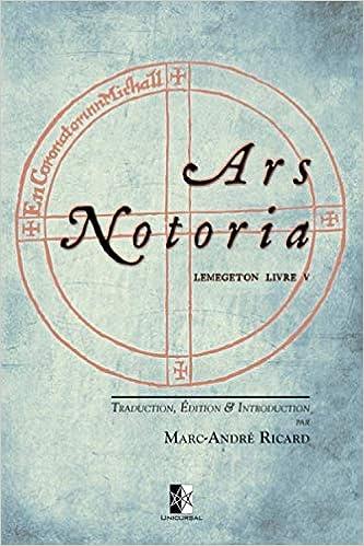 Amazon Com Ars Notoria Lemegeton Livre V L Art Notoire