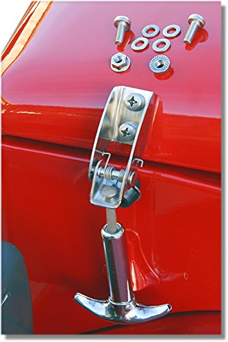 - Hood Hook Land Cruiser FJ40 Stainless Steel with Hardware, Pair