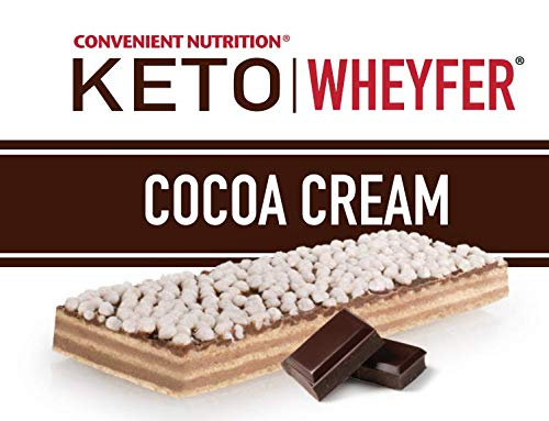 Convenient Nutrition Keto Wheyfer Bars Cocoa Cream – 10 Bars