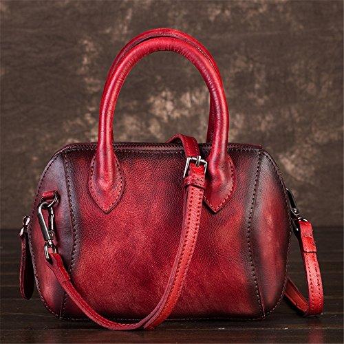 Obliqua Rosso In Capacità Adatto Borsa Pelle Piccola Tote Asdflina Diagonale Quotidiano A Grande Da Marrone Donna L'uso Per colore Spalla qFHW7XOOwn