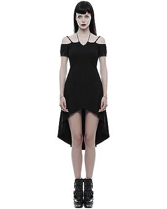 Kleid Steampunk Okkult Punk Rave Gothic Punk Schwarz Hexe 1JlFTKc3