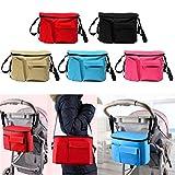 Bazaar Baby Stroller Organizer Nappy Diaper Bag Pram Buggy Bottle Holder