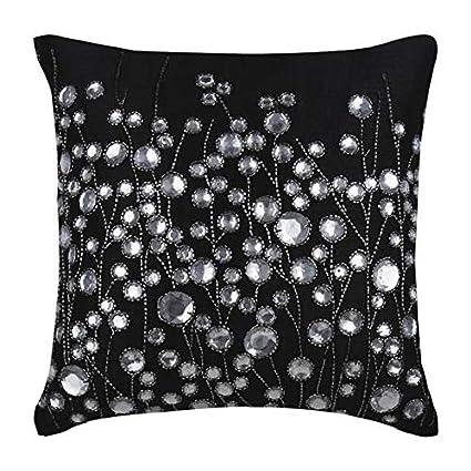 Amazon.com: Pillow Covers 20x20 Black, Throw Pillows Cover ...