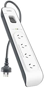 Belkin BSV400au2M Travel Surge Protector, White and Grey, 4