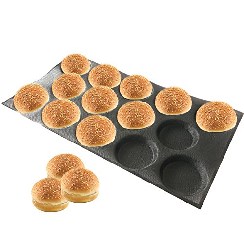 - Bluedrop Silicone Hamburger Bread Forms Perforated Silicone Bakery Molds Tartlets Moulds Sheets