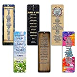 Christian Bookmarks Cards - Books of The Bible Bookmarks (60 Pack) Collection & Gift with Inspirational, Motivational, Encouraging Scripture Based Messages