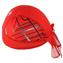 Sports Headwear Quickly Dry Sun UV Protection Cycling Bandana Running Beanie Bike Motorcycle Cap Under Helmet Red