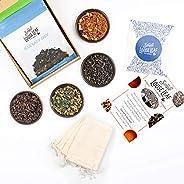 Simple Loose Leaf Tea - Curated Exploration of 4 Loose Leaf Tea Premium Blends - Hand packaged Tea Subscriptio