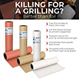 Brown Kraft Butcher Paper Roll - 18 Inch x 175 Feet (2100 Inch) - Food Grade Brown Wrapping Paper for Smoking Meat of All Varieties – Unbleached, Unwaxed and Uncoated - Made in USA