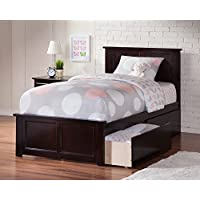 77 in. Eco-friendly Twin XL Bed with Matching Foot Board