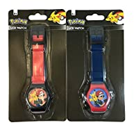 Pokemon LCD Digital Watch For Kids - 1 Assorted Color