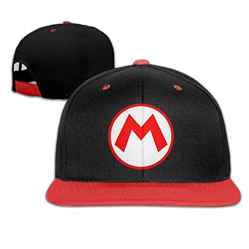Mario Hats For Sale (HQMV Youth Super Mario Logo Hip-hop Snapback Baseball Caps Hats For Boys&Girls)