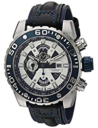 GV2 by Gevril Men's 1400 Polpo Analog Display Swiss Quartz Black Watch