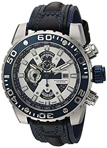 GV2 by Gevril Men's 1400 Polpo Analog Display Swiss Quartz Black Watch (Gold Versus Watches For Men)