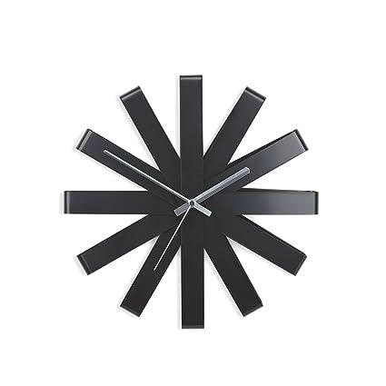 LWZY Reloj de Acero Inoxidable,Reloj de Pared Relojes Grandes de Pared de Silencio Tic