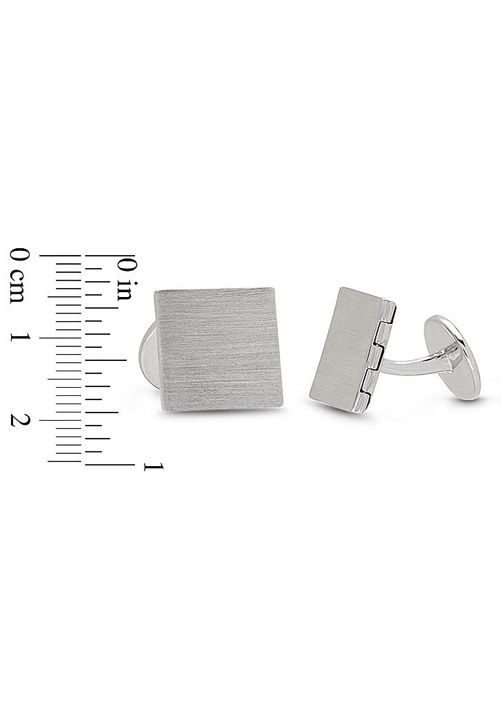 Sterling Silver-Square-Men's-Custom Photo Locket Cufflinks-The Julian by With You Lockets