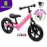 TheCroco Lightweight Balance Bike Premium for Toddlers and Kids (Pink)