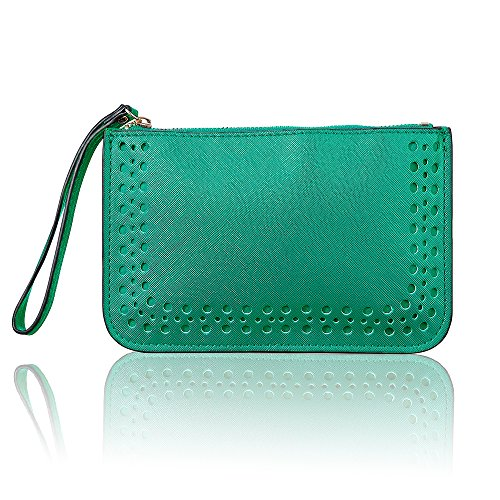 Women Leather Purse Solid...