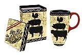 Best Gifted Living coffee mug - Elegant Farmhouse Ceramic Travel Coffee Mug with Gift Review