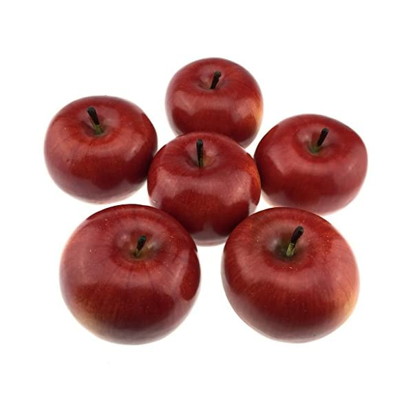 Gresorth-6pcs-Lifelike-Artificial-Red-Apple-Faux-Fake-Apples-Fruit-Home-House-Kitchen-Cabinet-Decoration