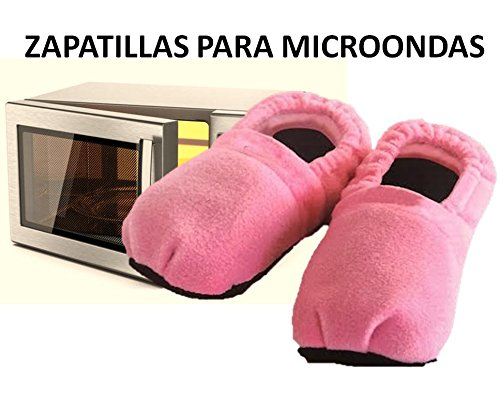 Zapatillas microondas calienta pies color ROSA ®: Amazon.es ...
