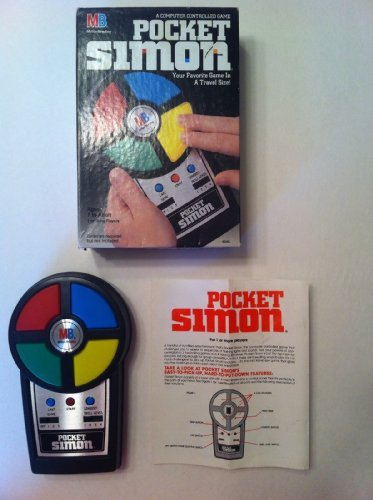 Vintage 1980 POCKET SIMON ELECTRONIC GAME (Includes Box And Instructions!)