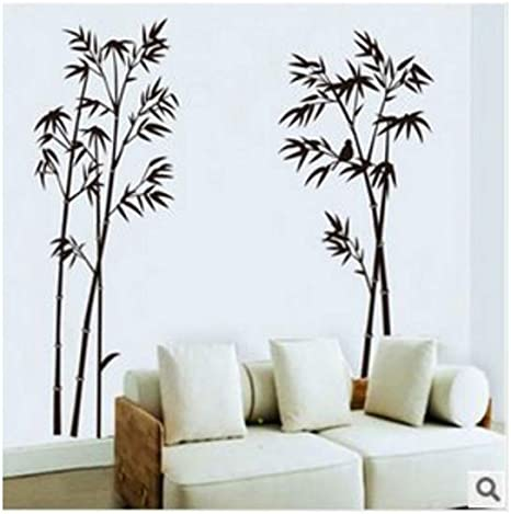 Amazon Com Bamboo Mural Removable Craft Art Black Wall Sticker Decal Home Livingroom Decor Home Kitchen
