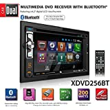 """Dual XDVD256BT Digital Multimedia 6.2"""" LED Backlit LCD Touchscreen Double DIN Car Stereo with Built-in Bluetooth, CD/DVD, USB, microSD & MP3 Player"""