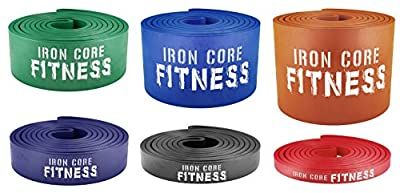 Pull up Assist Bands - Power Resistance Bands for Weight Training, Crossfit, Mobility - Light Medium Heavy Powerlifting bands for Warm up, Stretching, Fitness - Gym Quality Fitness Bands with Guide
