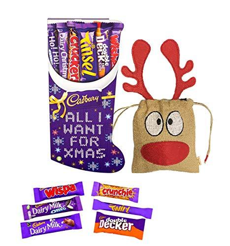 British Cadbury Medium Christmas Stocking 194g | British Christmas Candy Cadbury Chocolate UK | British Christmas Shop | Imported from - Hamper Chocolate Imported
