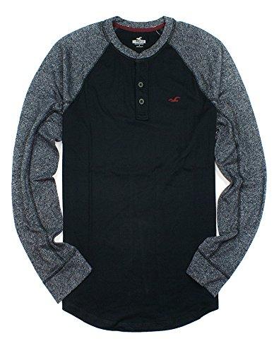 hollister-mens-colorblock-jersey-henley-long-sleeve-shirt-ho9-medium-black